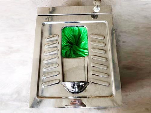 不锈钢免水打包蹲便器